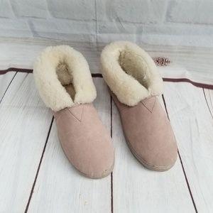 BearPaw  Suede Sheepskin Slippers